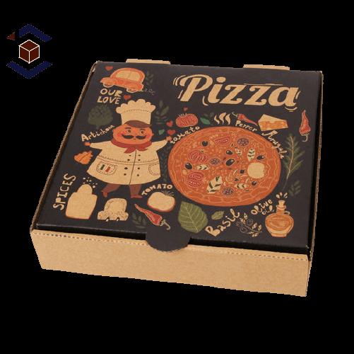 Custom Generic Printed Pizza Packaging Box