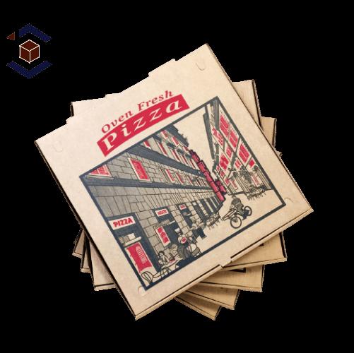 Custom Generic Printed Pizza Packaging