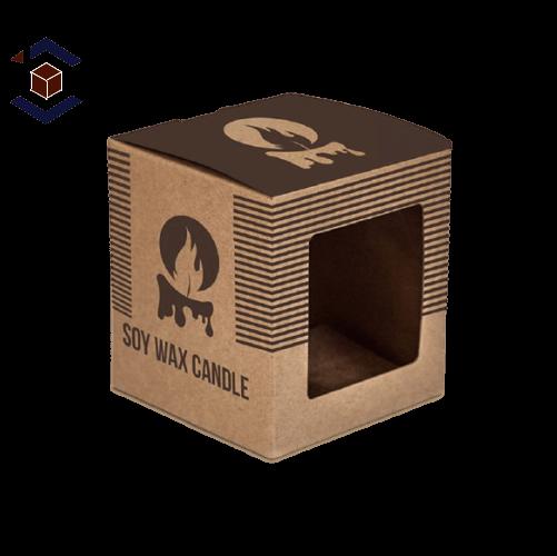 Custom Karaft Candle Packaging Boxes