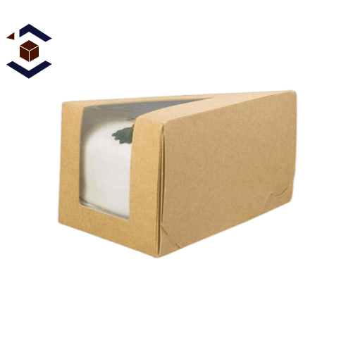 Custom White Small Slice Cake Packaging Box