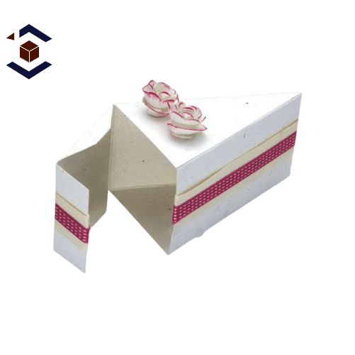 Custom White Small Slice Cake Packaging Boxes