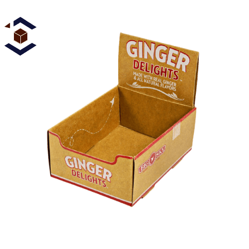 Food Double Wall With Display Lid Packaging Boxes