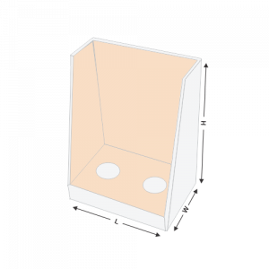 Display box with punch partition