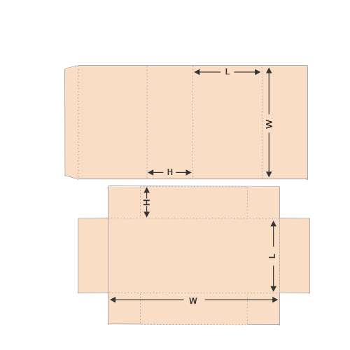 Tray and Sleeve tempelet